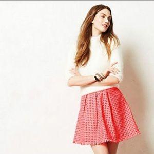 Anthropologie  Yoana Baraschi neon pink skirt